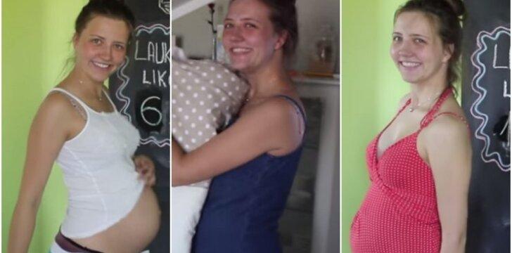 """Agnė savo nėštumą įamžino originaliai – pamatykite patys <sup style=""""color: #ff0000;"""">VIDEO</sup>"""