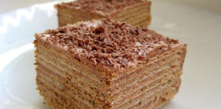 Šokoladinis vaflių tortas
