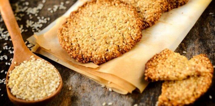 Greiti sezamo sėklų sausainiai