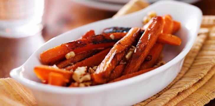 Saldžios, cinamoninės morkytės