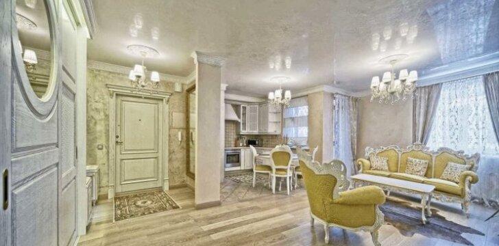 64 kv.m butas Vilniuje: subtili klasikinio stiliaus prabanga