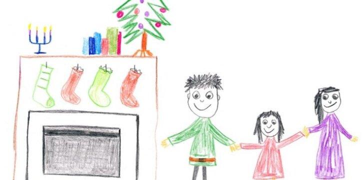 Kaip iš vaiko piešinio sužinoti, ar jis yra laimingas