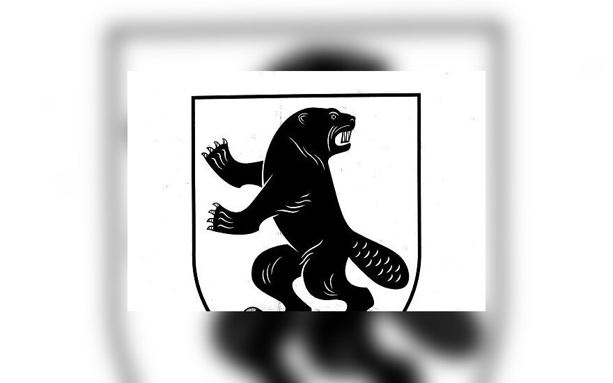 Užusalių herbas: karingasis bebras