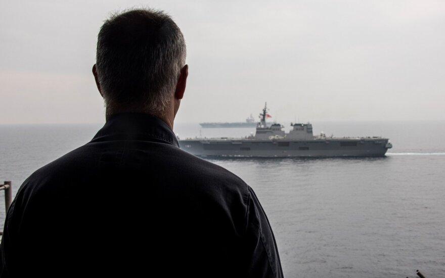 JAV ir Japonija pradėjo dideles pratybas Japonijos jūroje