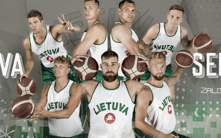 Su Serbijos rinktine Lietuvos krepšininkai žais su senojo dizaino apranga