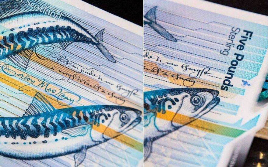 Škotiški banknotai su žuvimis