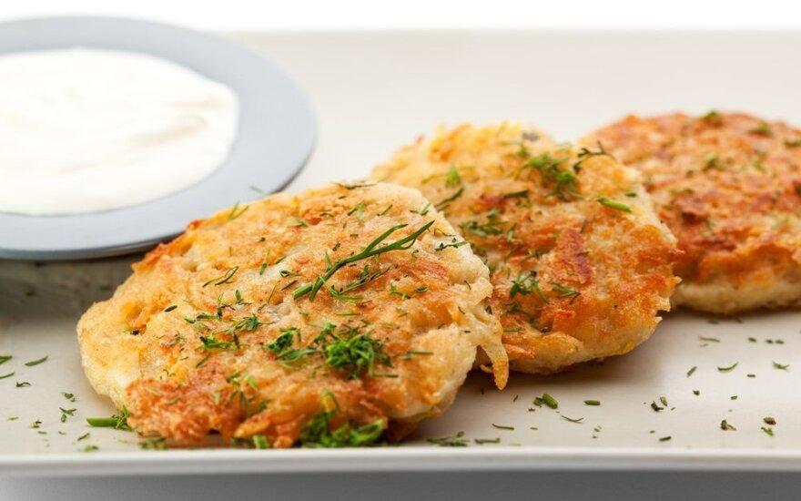 Traškūs bulviniai blynai su sūriu