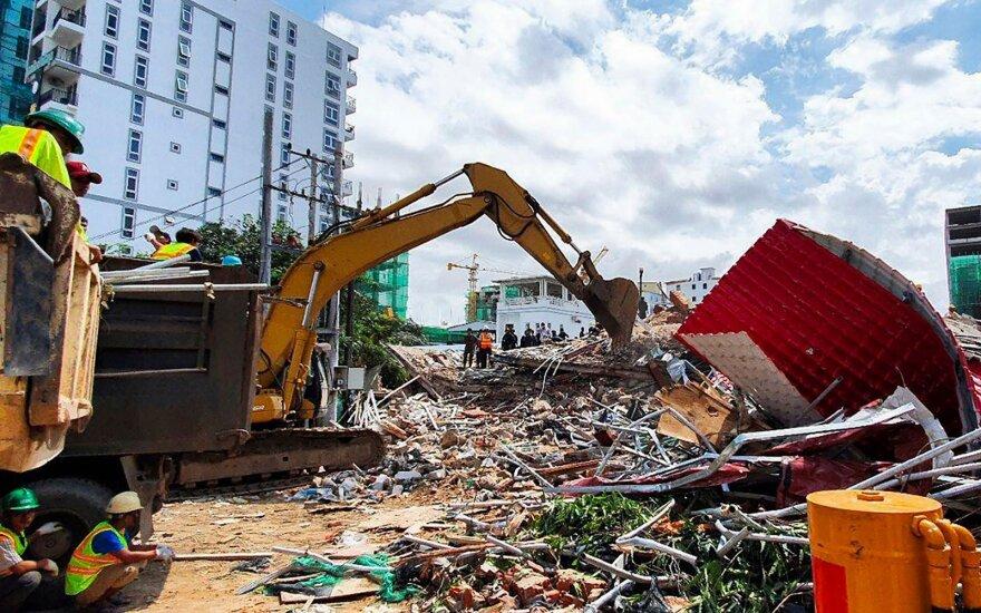 Kambodžoje sugriuvo septynaukštis pastatas