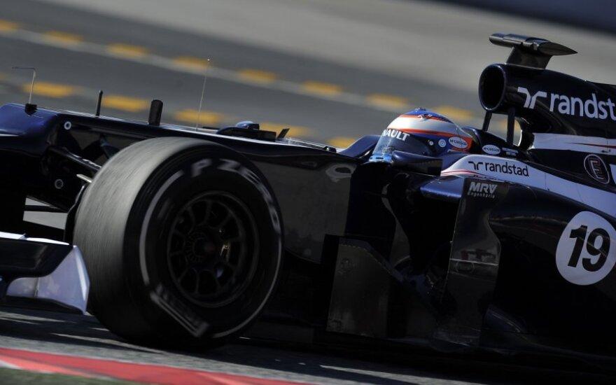 "Valtteri Bottas su ""Williams"" automobiliu"