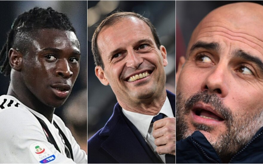 Moise'as Keanas, Massimiliano Allegri ir Pepas Guardiola