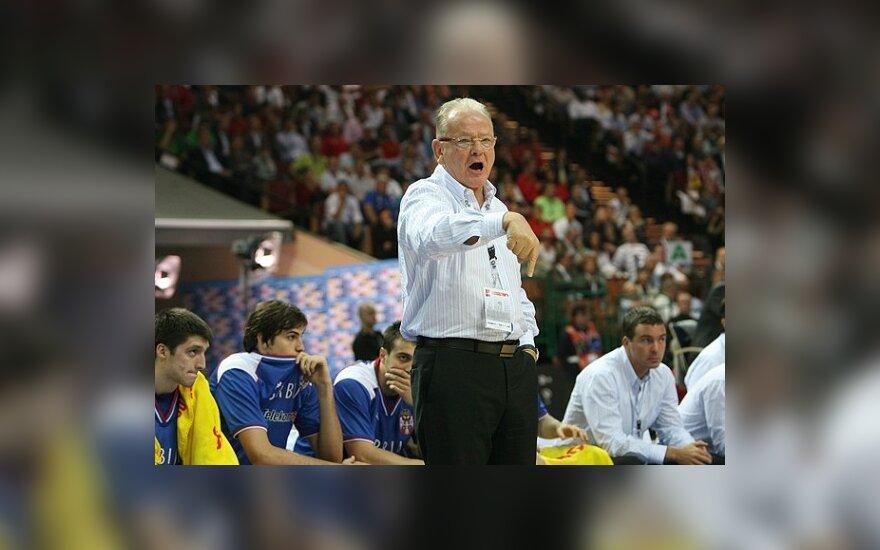 """Graikų spauda: """"Olympiakos"""" klubas susitarė su treneriu D.Ivkovičiumi"""