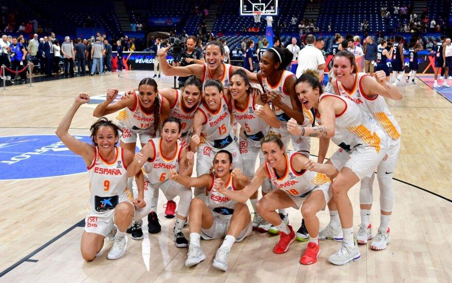 Ispanijos krepšininkės apgynė Europos čempionių vardą