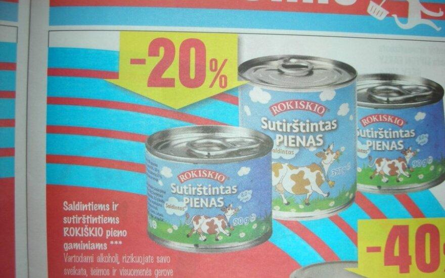 Prie sutirštinto pieno reklamos – įspėjimas apie rizikingą alkoholio vartojimą