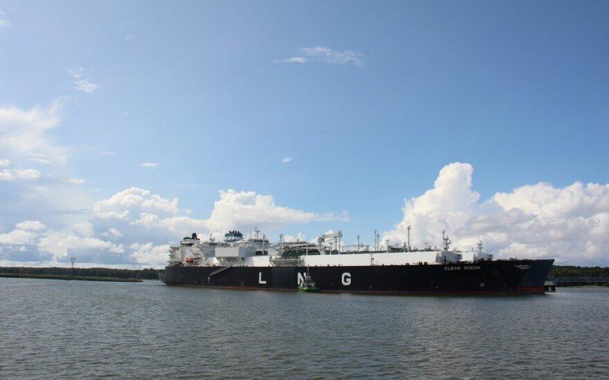 Į Lietuvą atplaukia paskutinis šiais dujiniais metais SGD krovinys