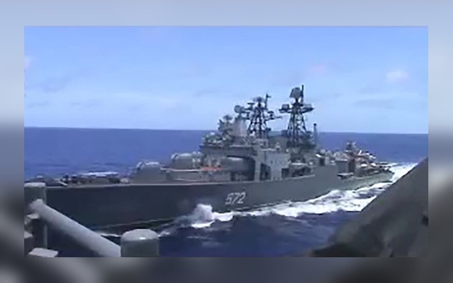 Po incidento su karo laivais Rytų Kinijos jūroje Rusija ir JAV kaltina viena kitą
