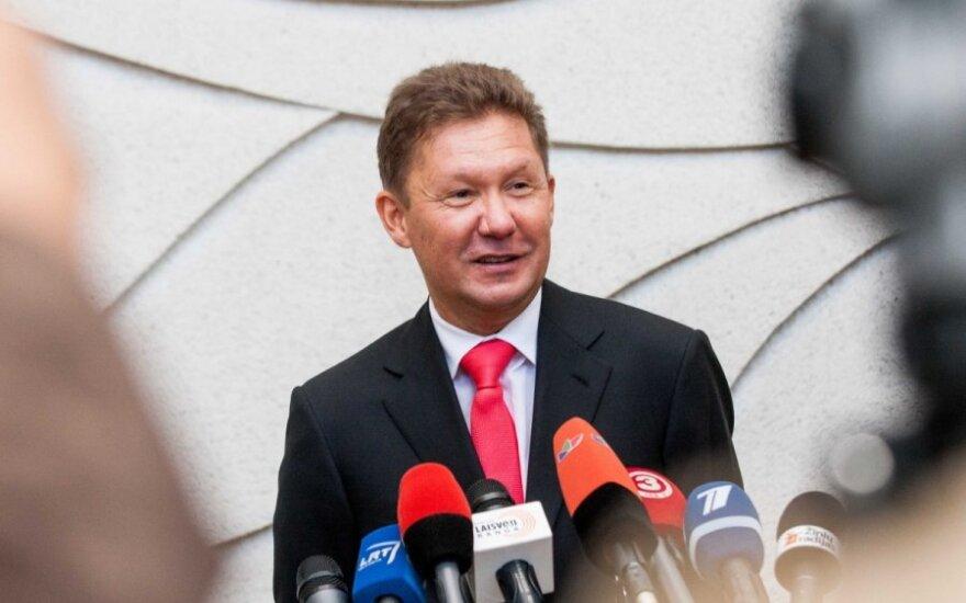"""""""Gazprom"""" vadovas: Ukrainos planai peržiūrėti dujų tranzito tarifą – pavojingi"""