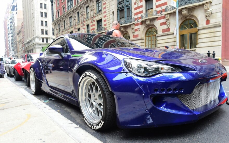 """Niujorko gatvėse filmuojama 8 """"Greiti ir įsiutę"""" dalis"""