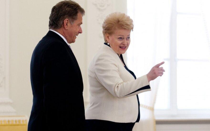 Dalia Grybauskaitė susitiko su Suomijos prezidentu Sauliu Ninisto