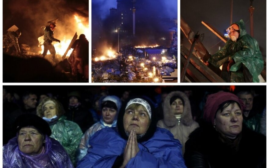 Naktis Kijeve: sumaištis, paliaubos ir nerimas