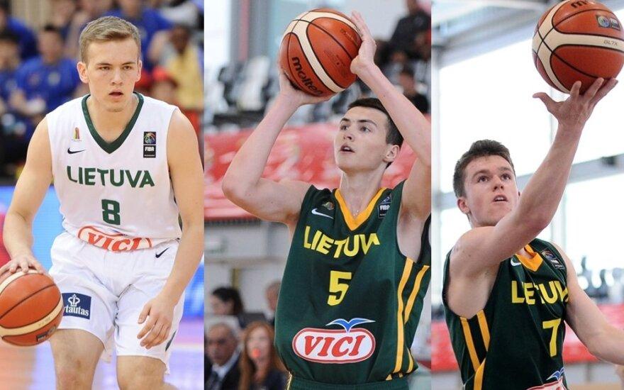 Arnas Velička, Lukas Uleckas, Ignas Sargiūnas ir Grantas Vasiliauskas
