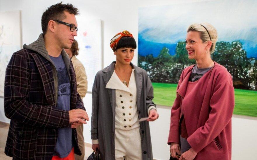 """Jaunųjų menininkų parodos """"Peizažo mimikrija"""" atidarymas"""