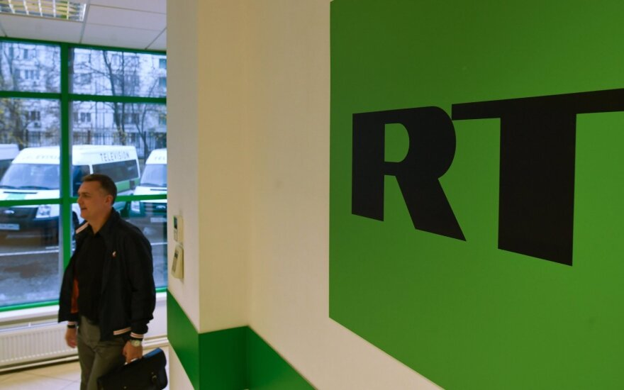 Britų žiniasklaidos priežiūros tarnyba skyrė baudą Rusijos televizijai RT