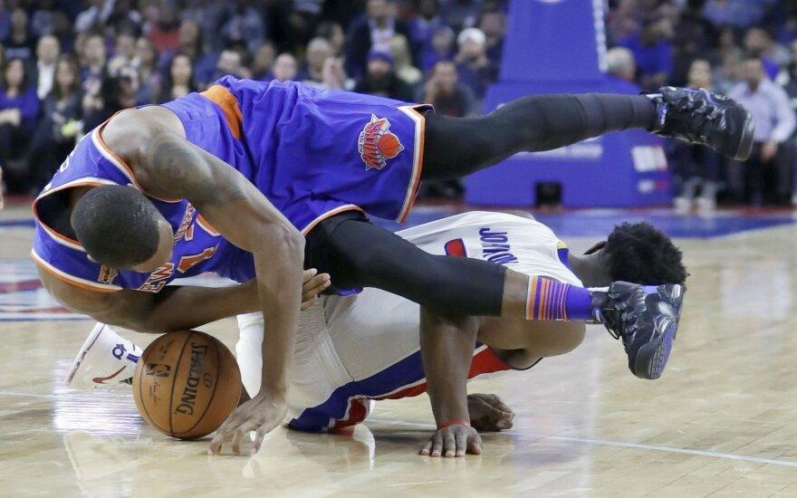 """M. Kuzminskas vėl nesulaukė savo minučių, o """"Knicks"""" pralaimėjo"""