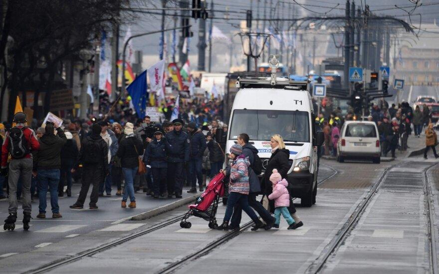 Protestas Budapešte