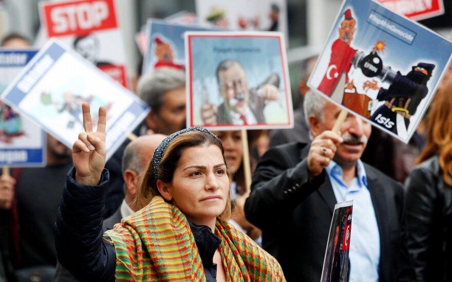 Vokiečių protestas prieš Erdogano vizitą