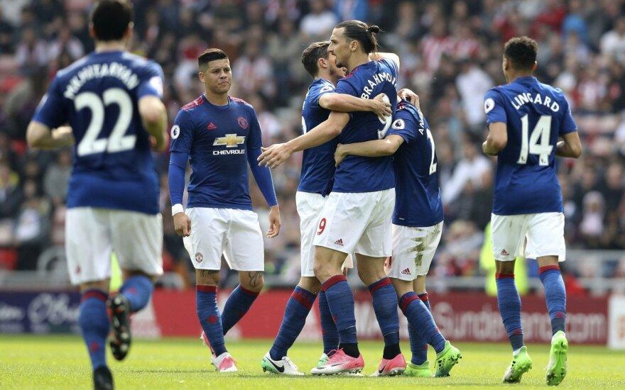 Premier lyga, Manchester United įveikė Sunderland ekipą