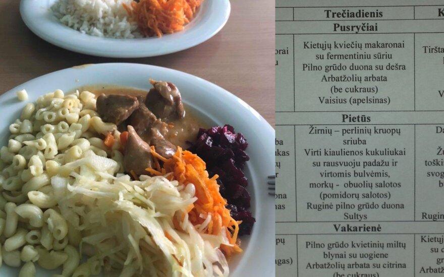 Mokyklos maistas ir darželio valgiaraštis
