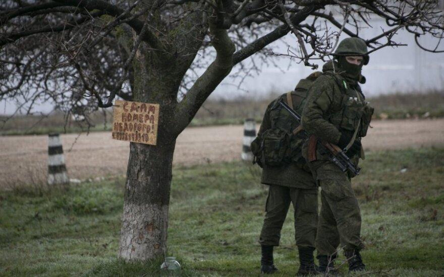 Krymas, rusų kariai Sevastopolyje