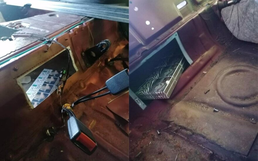 Gintaro Žagunio užkardos pasieniečių laimikis - antra slėptuvė ant ratų per dvi dienas