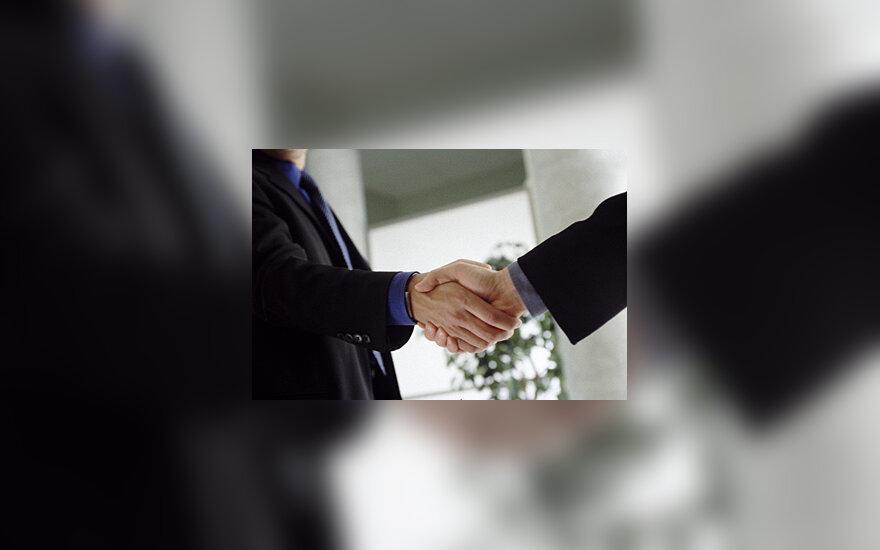 Verslas, derybos, sandėris