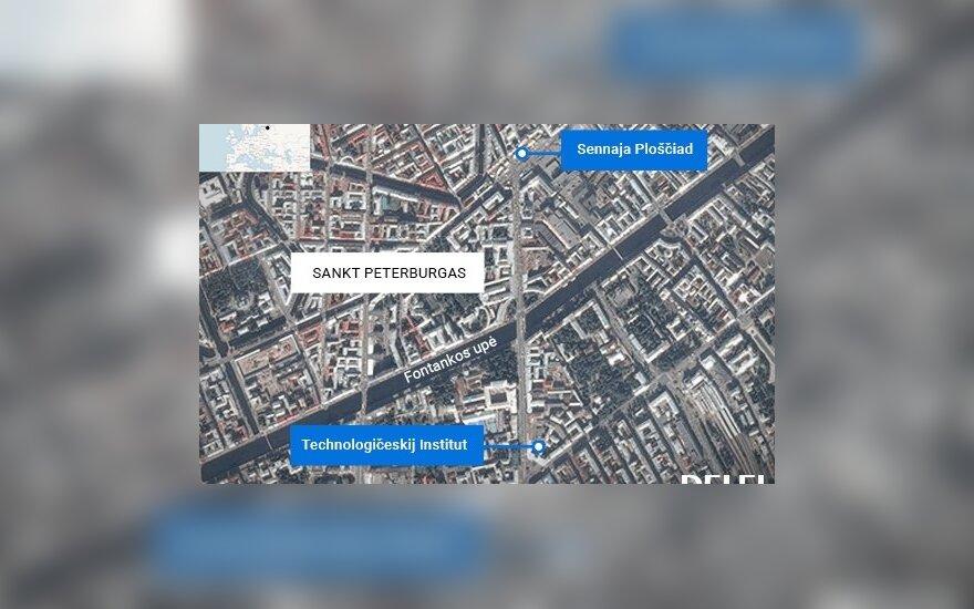 Rusijoje sulaikyti aštuoni asmenys, įtariami prisidėję prie sprogdinimo Sankt Peterburge