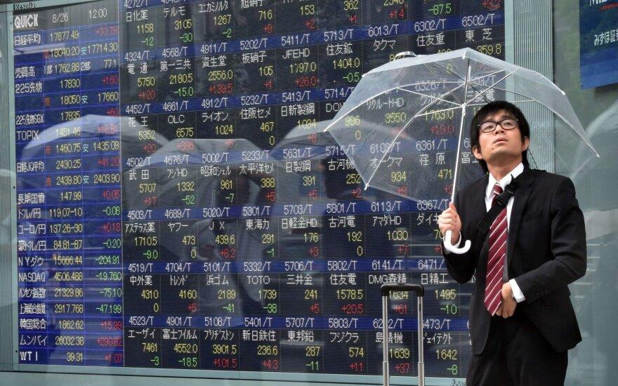 Investuotojai ir toliau vengia rizikos – smunka ir Azijos akcijų indeksai