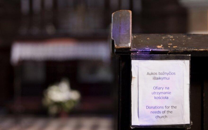 Kiek mokesčių sumoka bažnyčia?