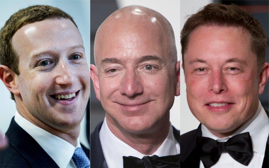 Markas Zuckerbergas, Jeffas Bezosas, Elonas Muskas