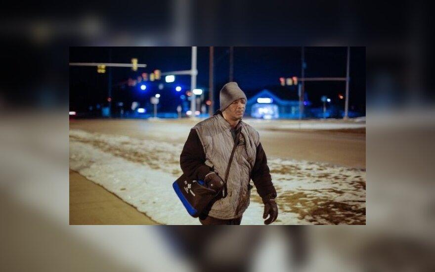 Šis Mičigano gyventojas į darbą eidavo 34 km pėsčiomis/gofundme.com.nuotr.