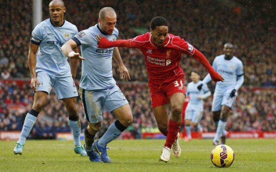 """""""Liverpool"""" sutiko """"Man City"""" parduoti R. Sterlingą"""