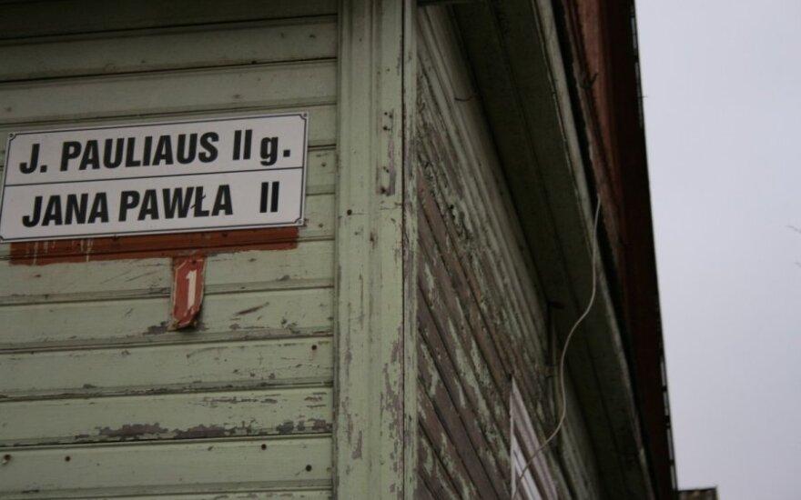 Bilingual signs in Šalčininkai