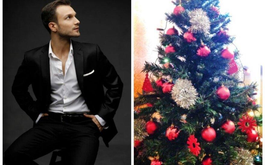 Vaido Baumilos puošta Kalėdų eglutė