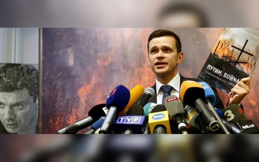 Ilya Yashin in Vilnius