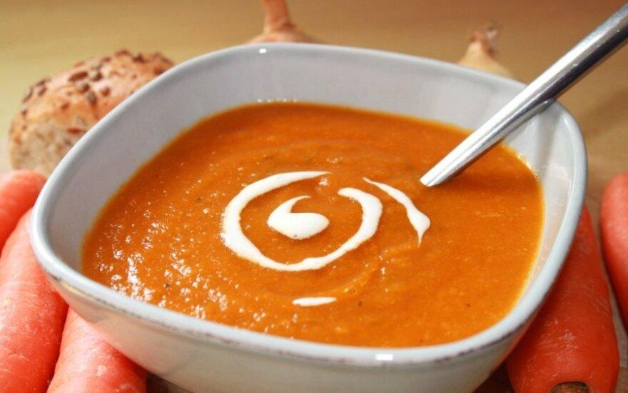 Aštri morkų ir lęšių sriuba