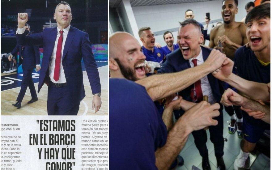 """Šarūnas Jasikevičius Barselonoje/ Foto: """"Gigantes"""" žurnalas, """"Barcelonos"""" klubas"""
