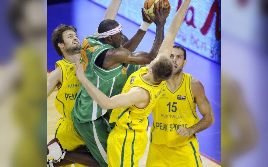 Australijos krepšininkai (geltona apranga) laimėjo turnyrą