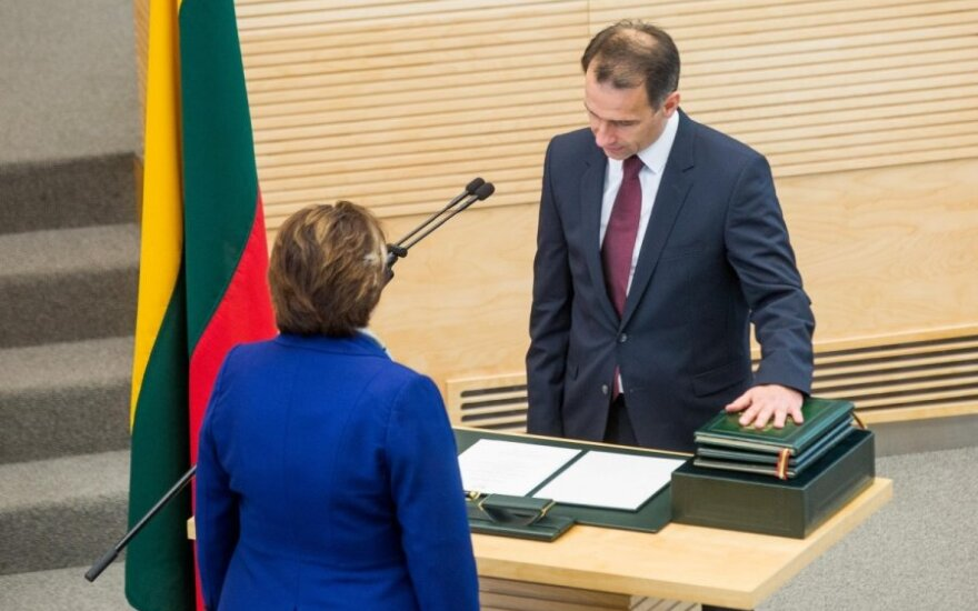 Masiulis sworn in as Lithuania's energy minister