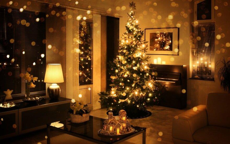 Kalėdinės dekoracijos namuose