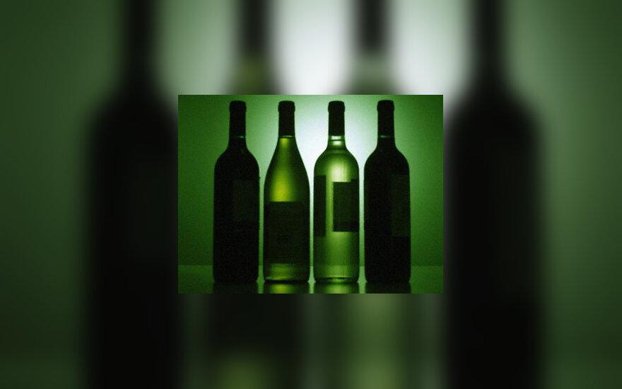 alkoholis, gėrimai, buteliai, stiklas