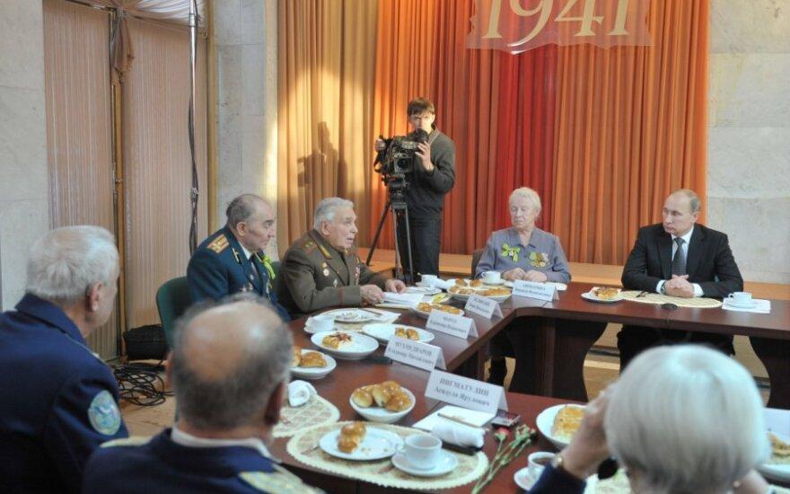 V.Putinas susitikime su II Pasaulinio karo  veteranais